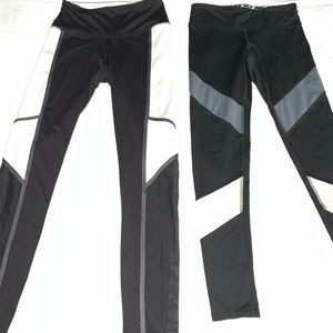 2 pairs of Leggings Pink/Champion Small